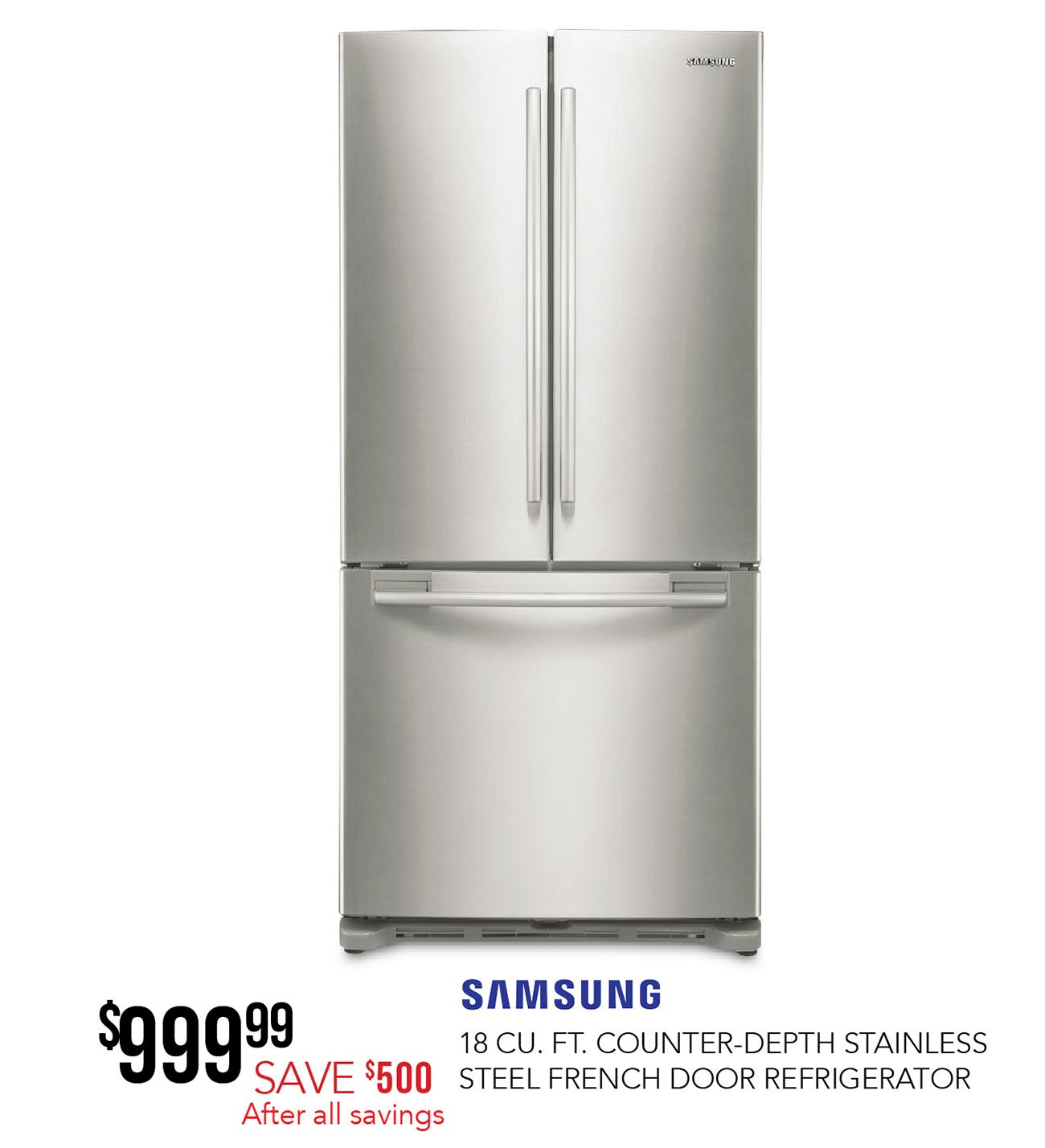 Samsung French Door Refrigerator   33 Inch Stainless Steel Counter Depth |  RC Willey Furniture Store