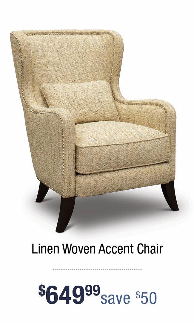Linen-woven-accemt-chair