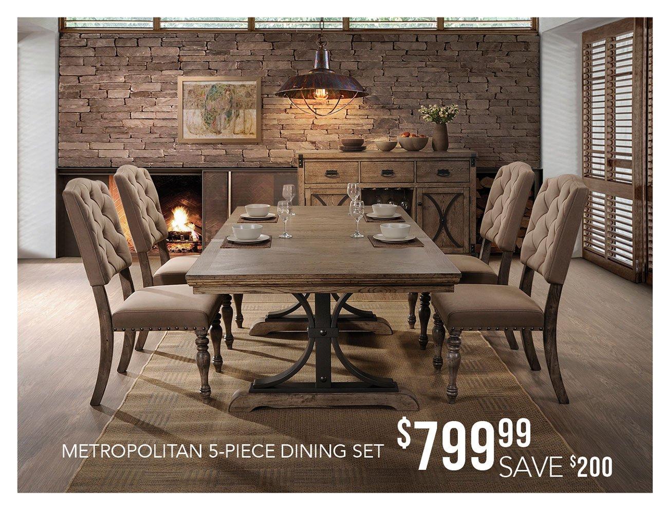 Metropolitan dining set