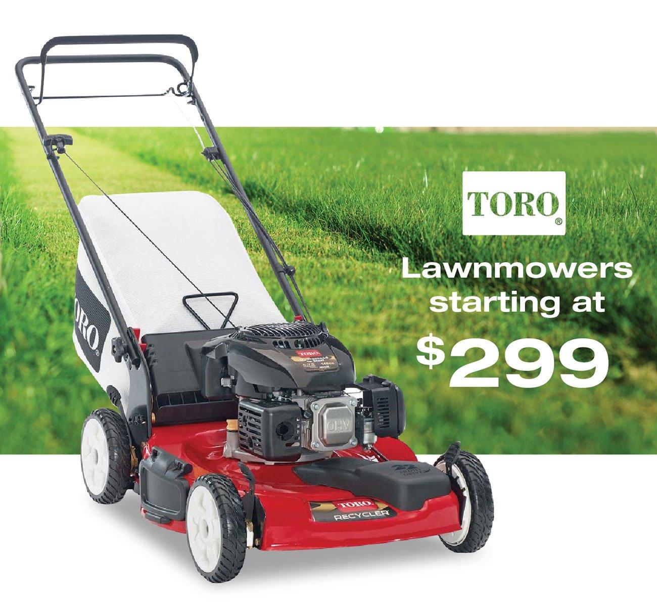 Toro-lawnmowers