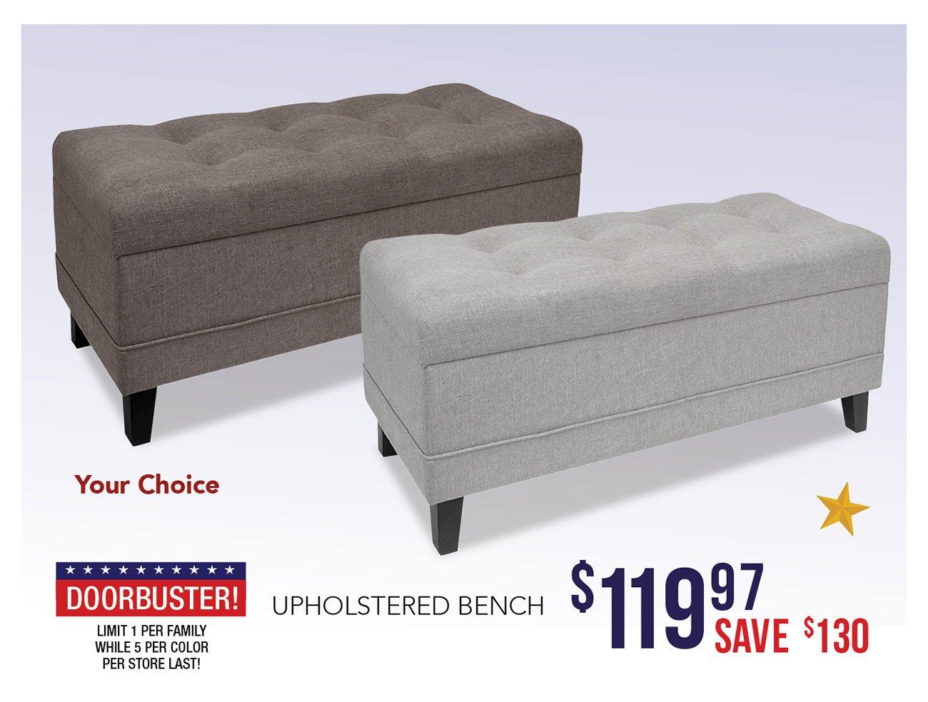Upholstered-bench