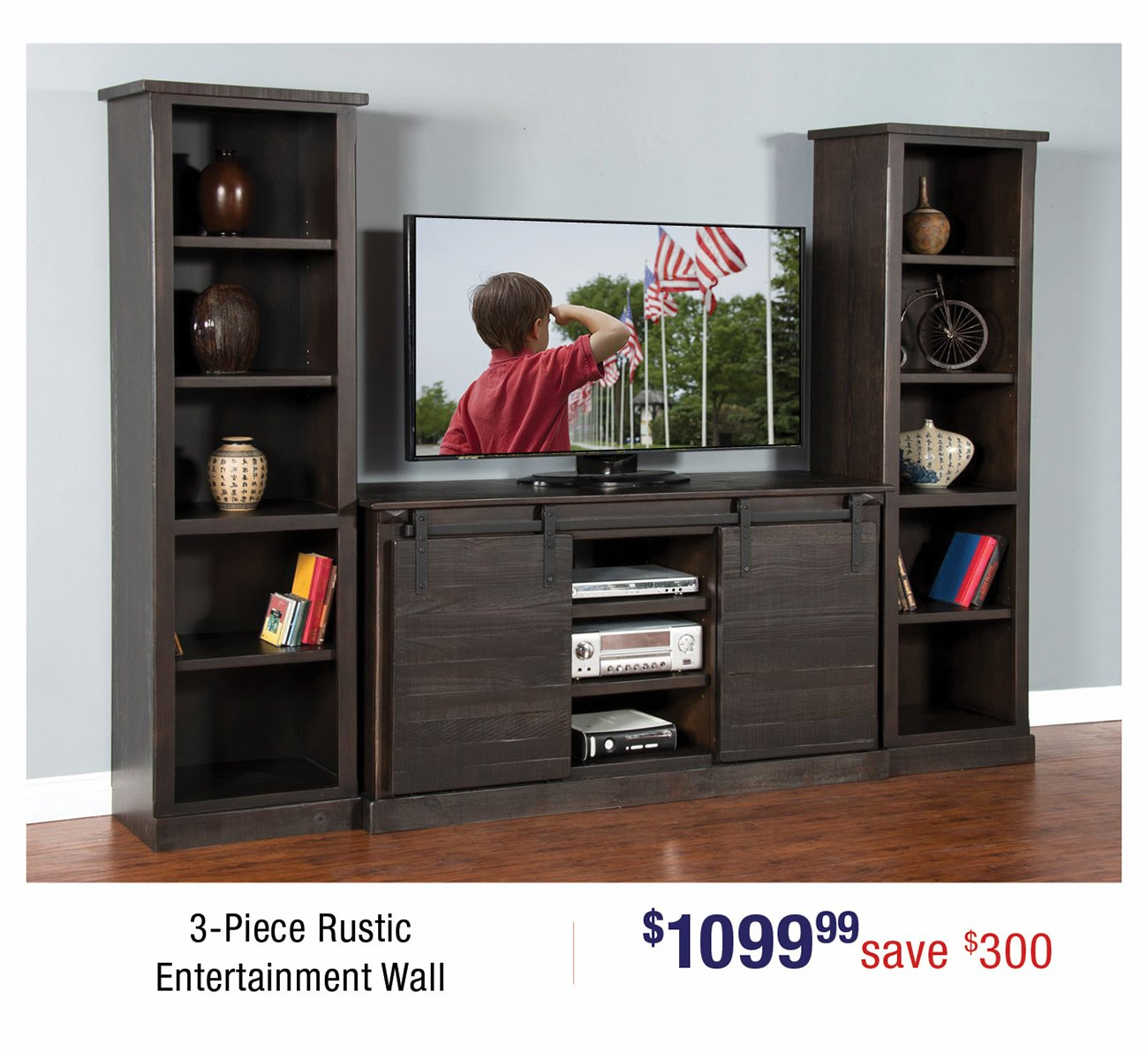 Rustic-entertainment-wall