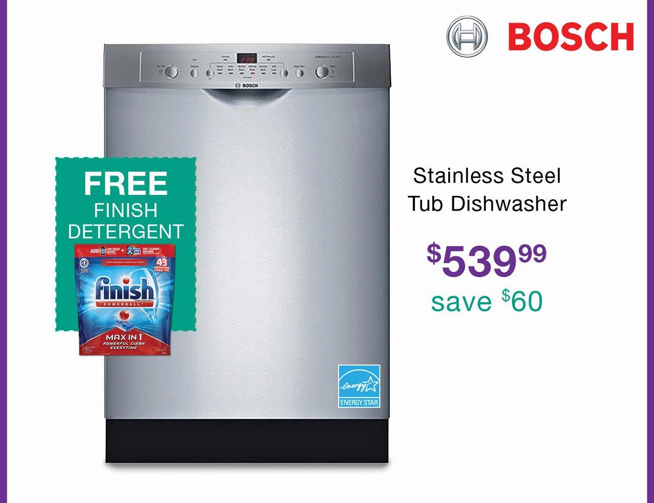 Bosch-stainless-dishwasher