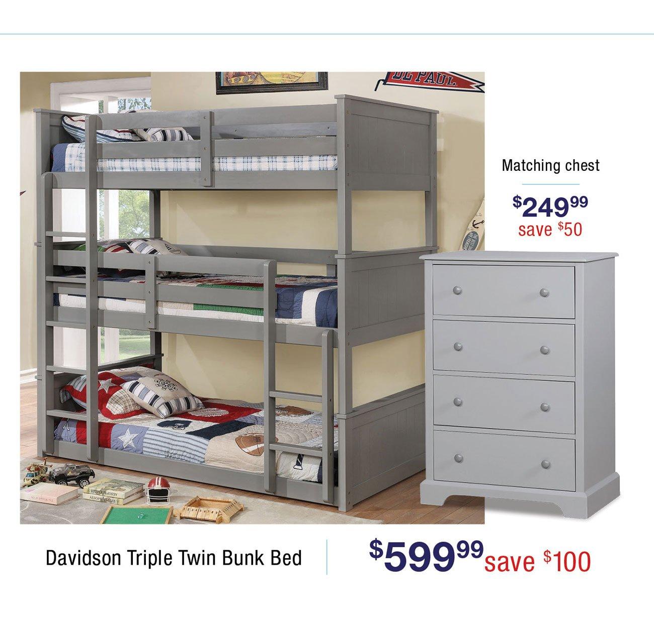 Davidson-triple-twin-bunkbed