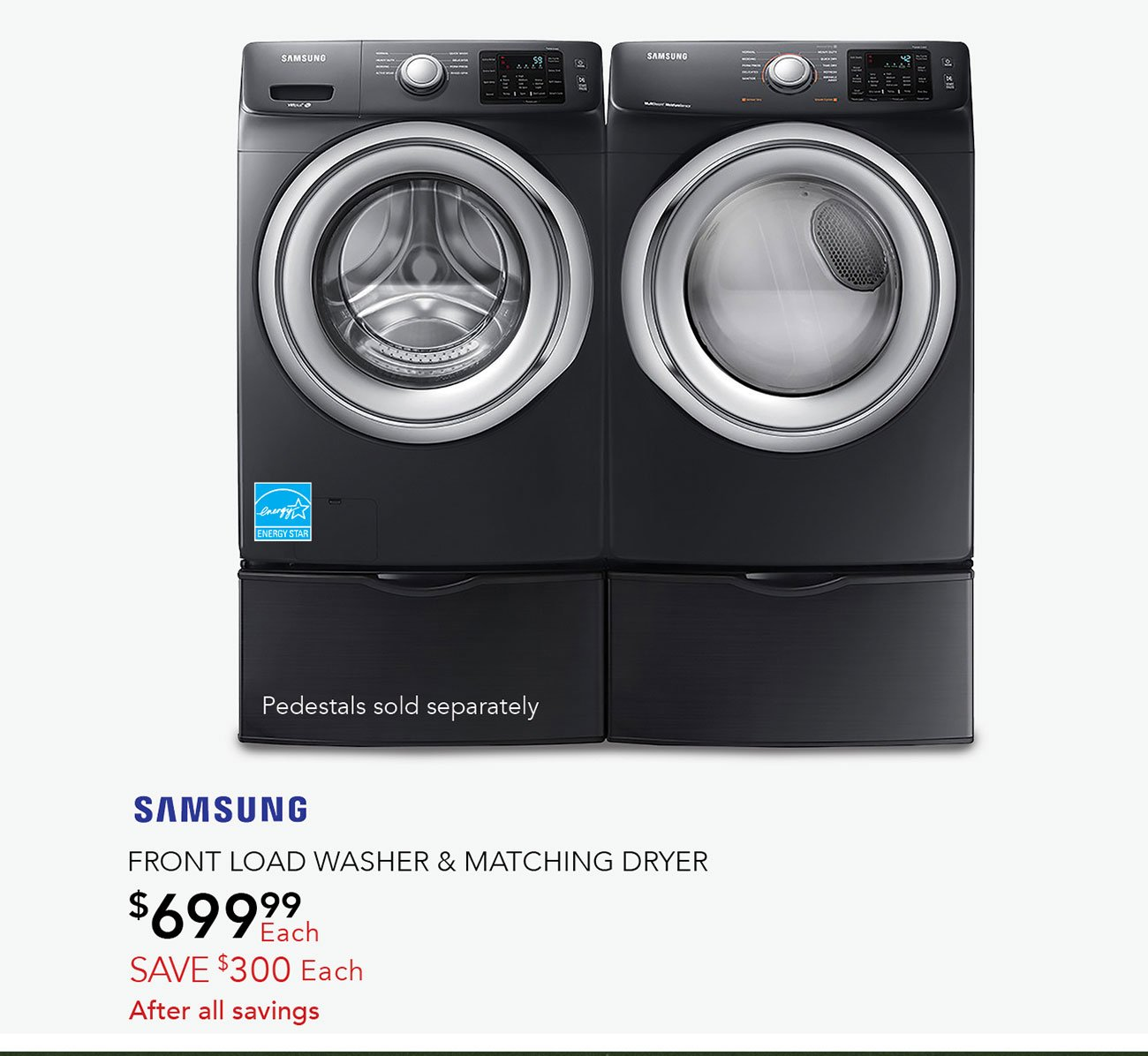 Samsung-front-load-washer-and-matching-dryer