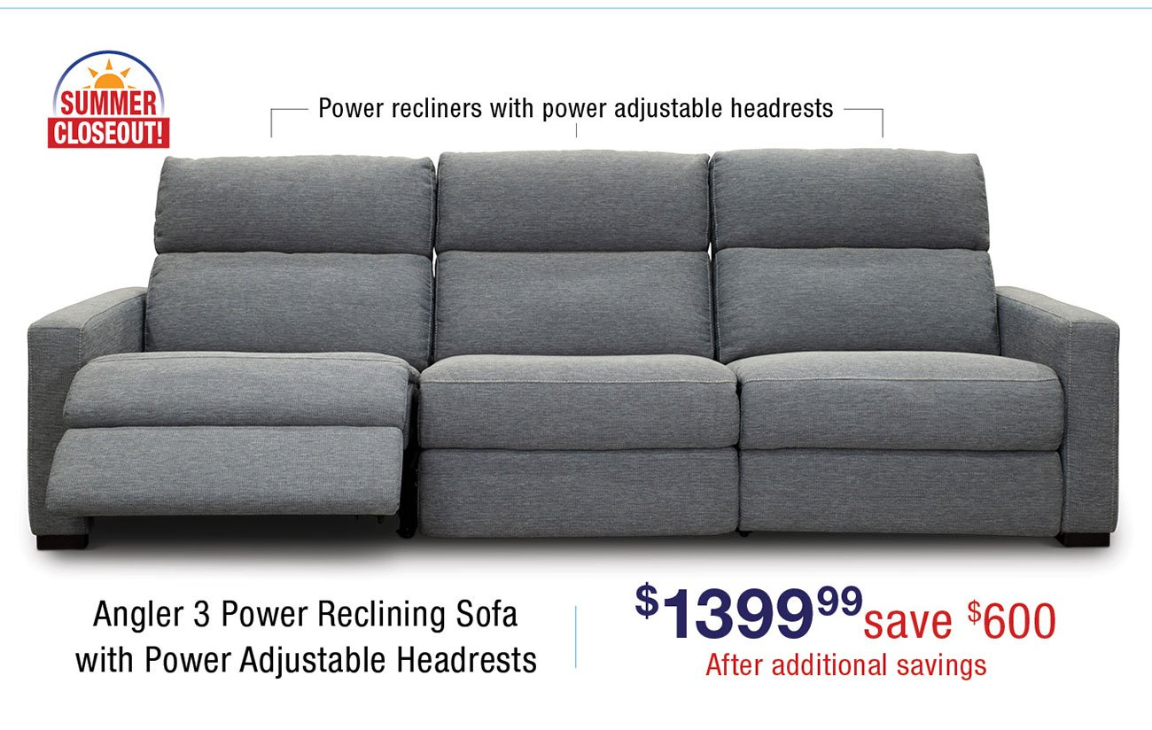 Angler-power-reclining-sectional