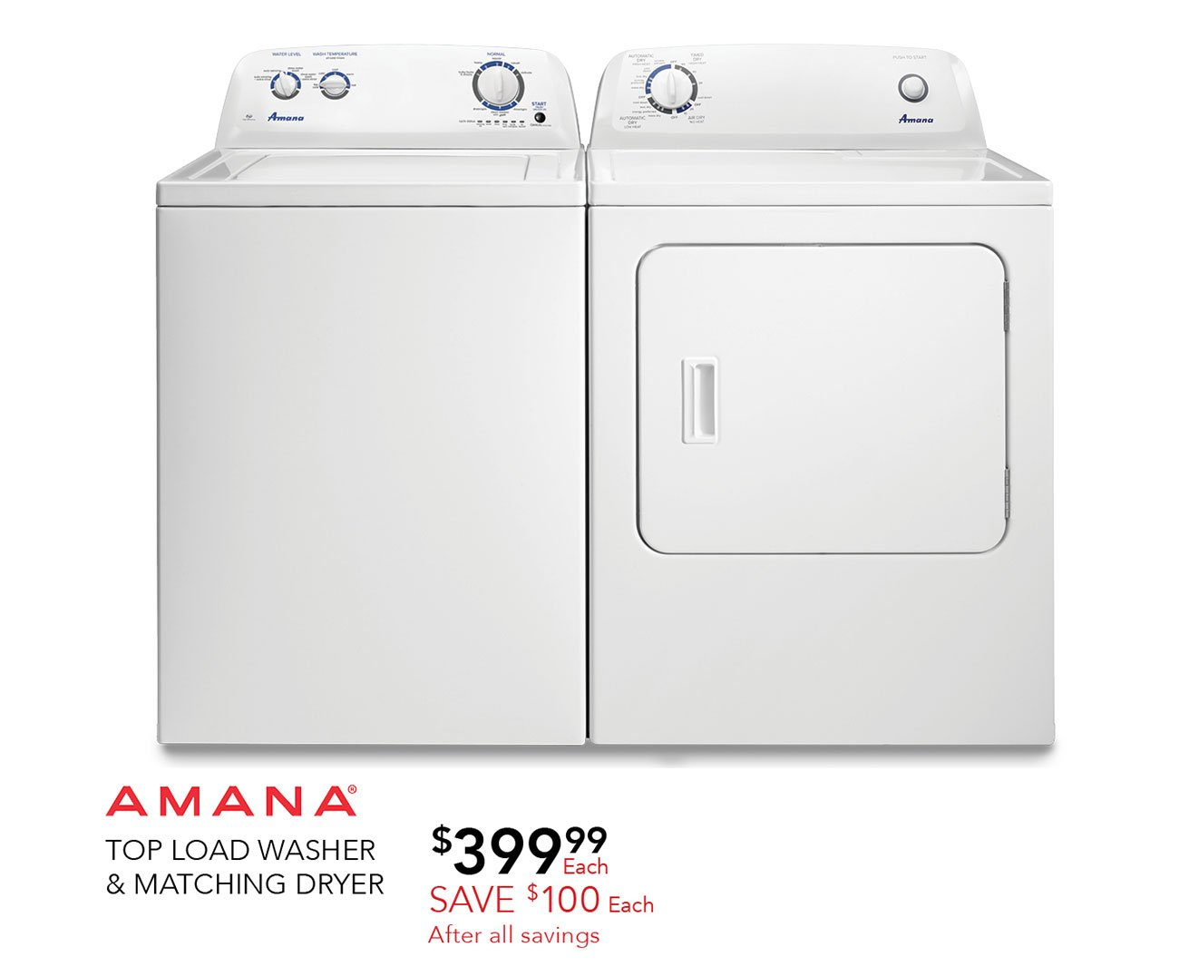 Amana-top-load-wsher-dryer