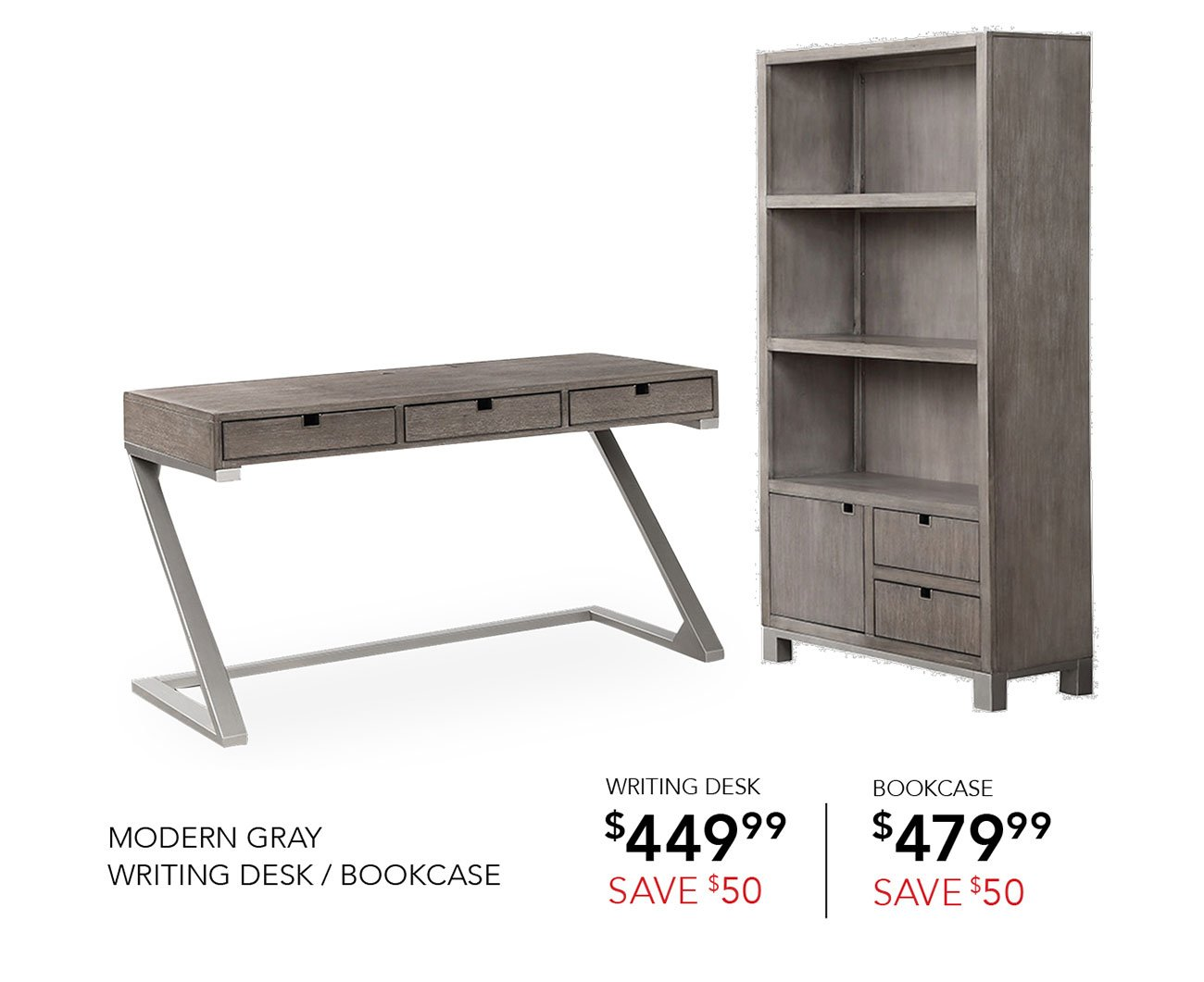 Modern-gray-book-case-writting-desk