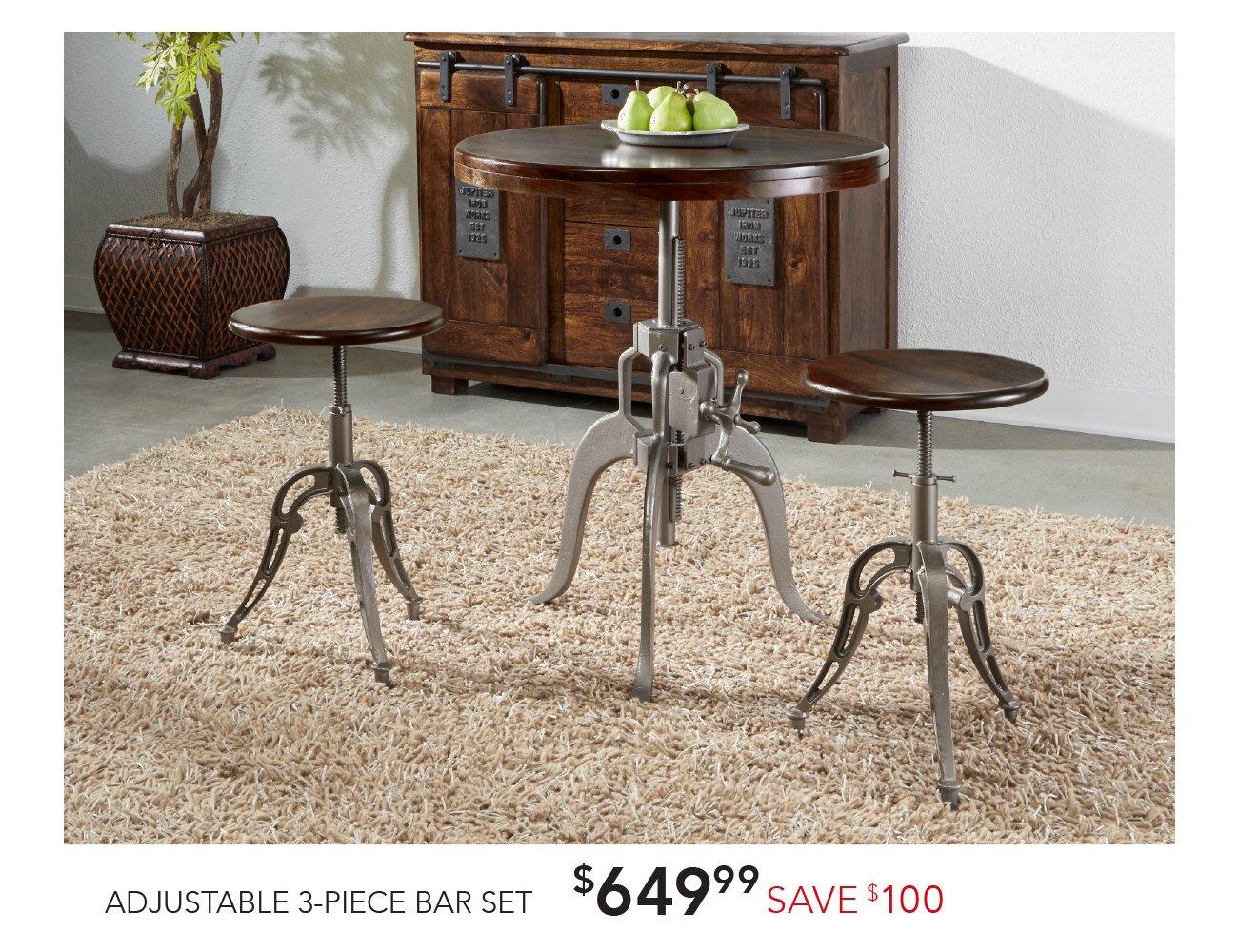 3-piece bar stool set