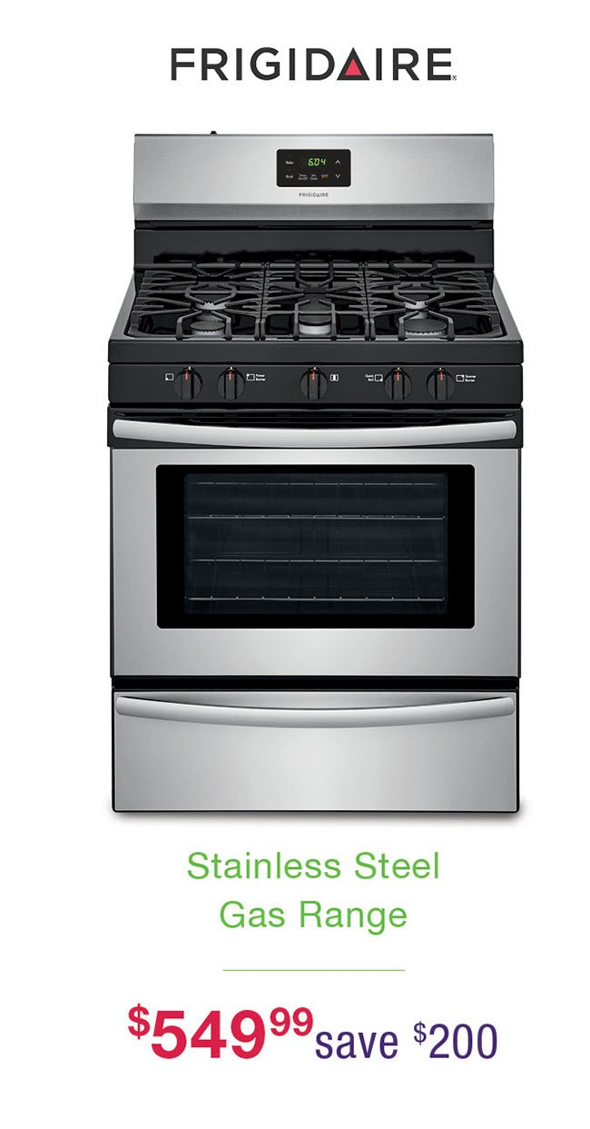 Frigidaire-stainless-gas-range