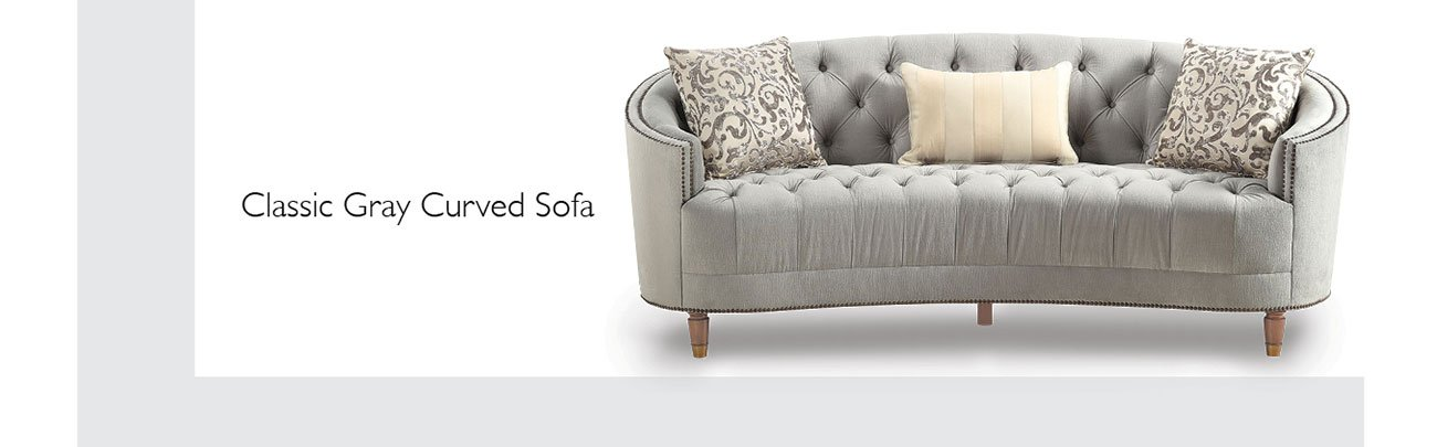 Classic-gray-curved-sofa