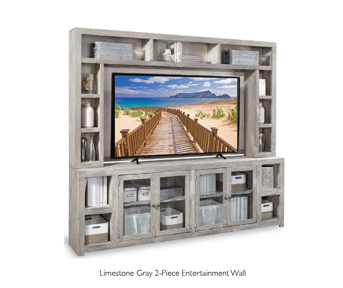 Limestone-gray-entertainment-wall