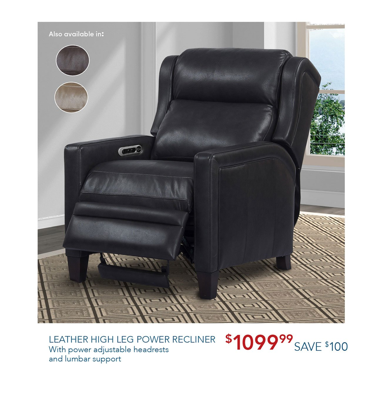 Leather-power-recliner