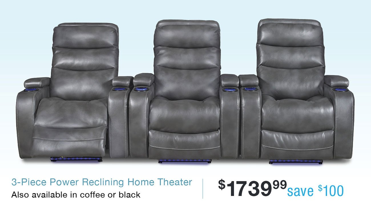 Power-reclining-home-theater
