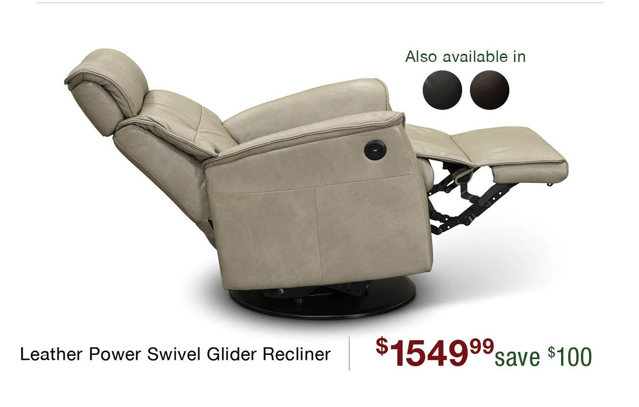 Leather-swivel-recliner