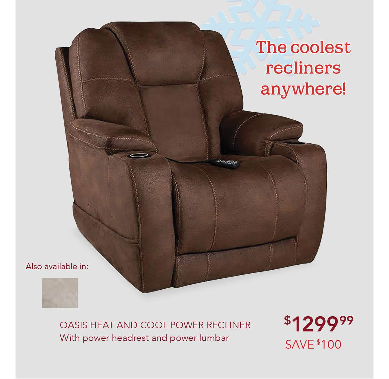 Heat-and-cool-recliner