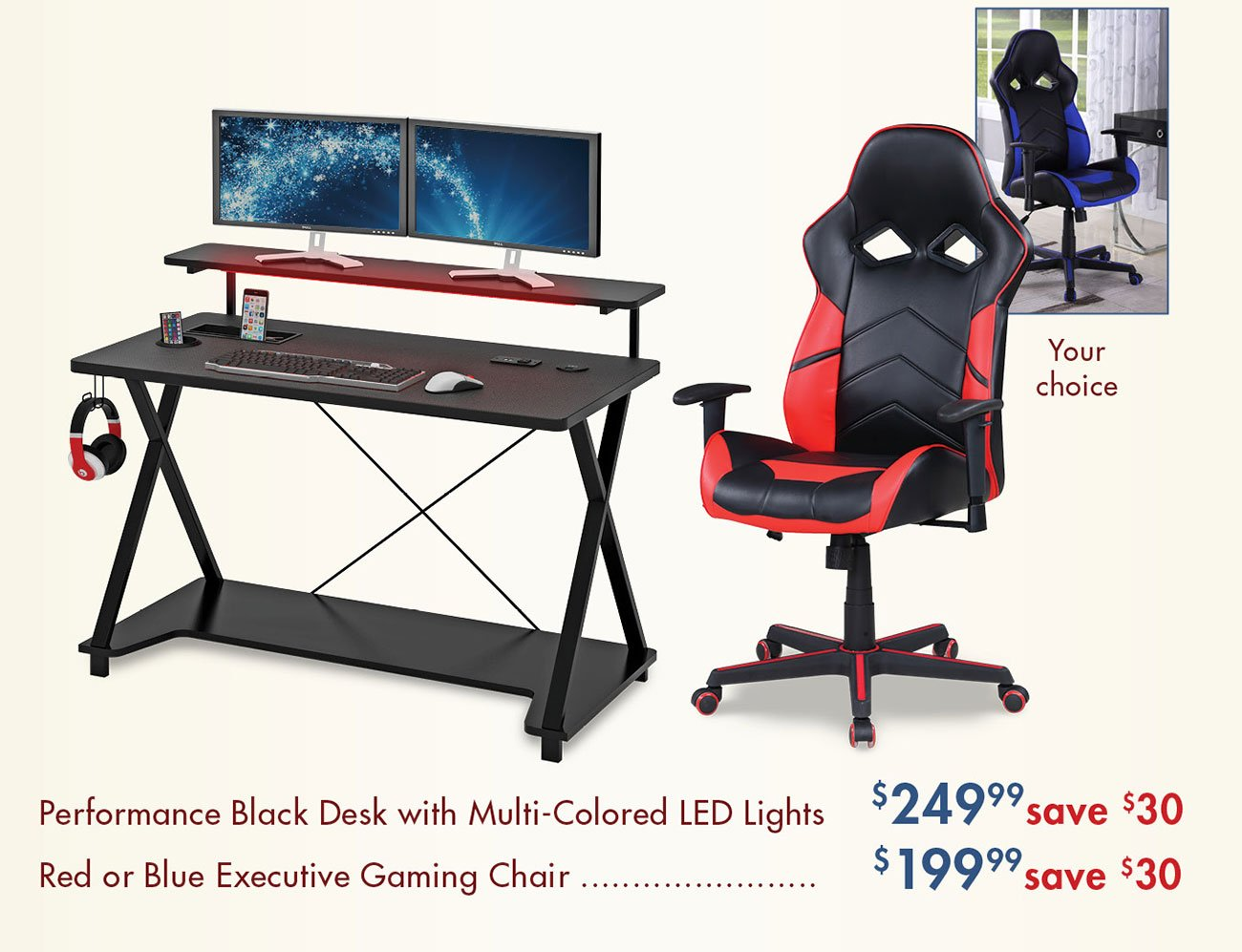 Gaming-desk-and-chair