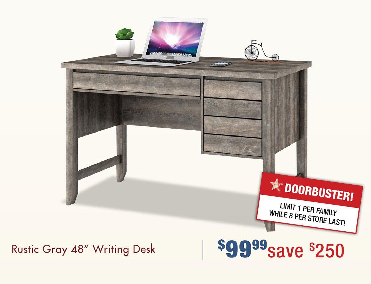 Rustic-gray-writing-desk