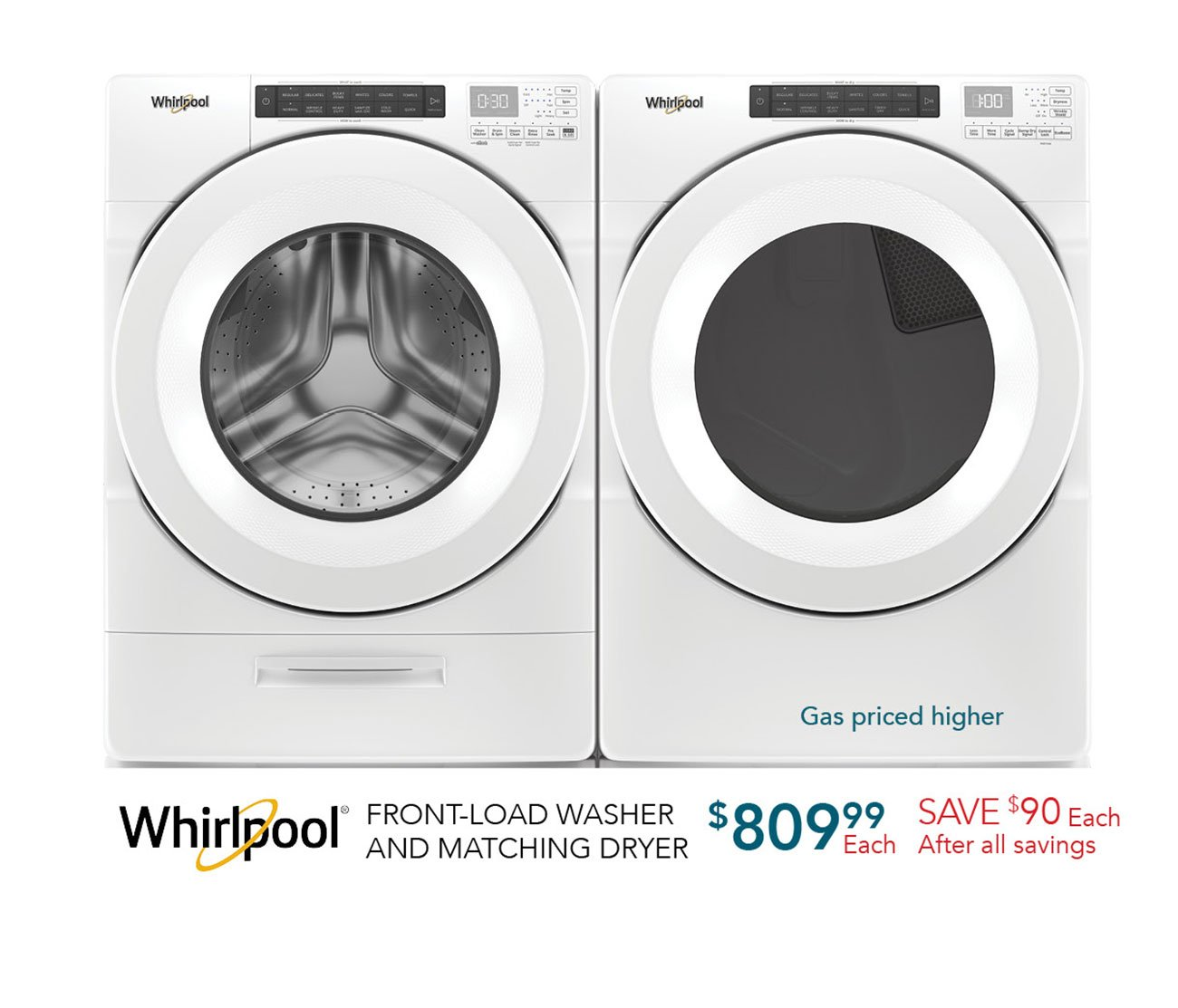 Whirlpool-front-load-washer-matching-dryer