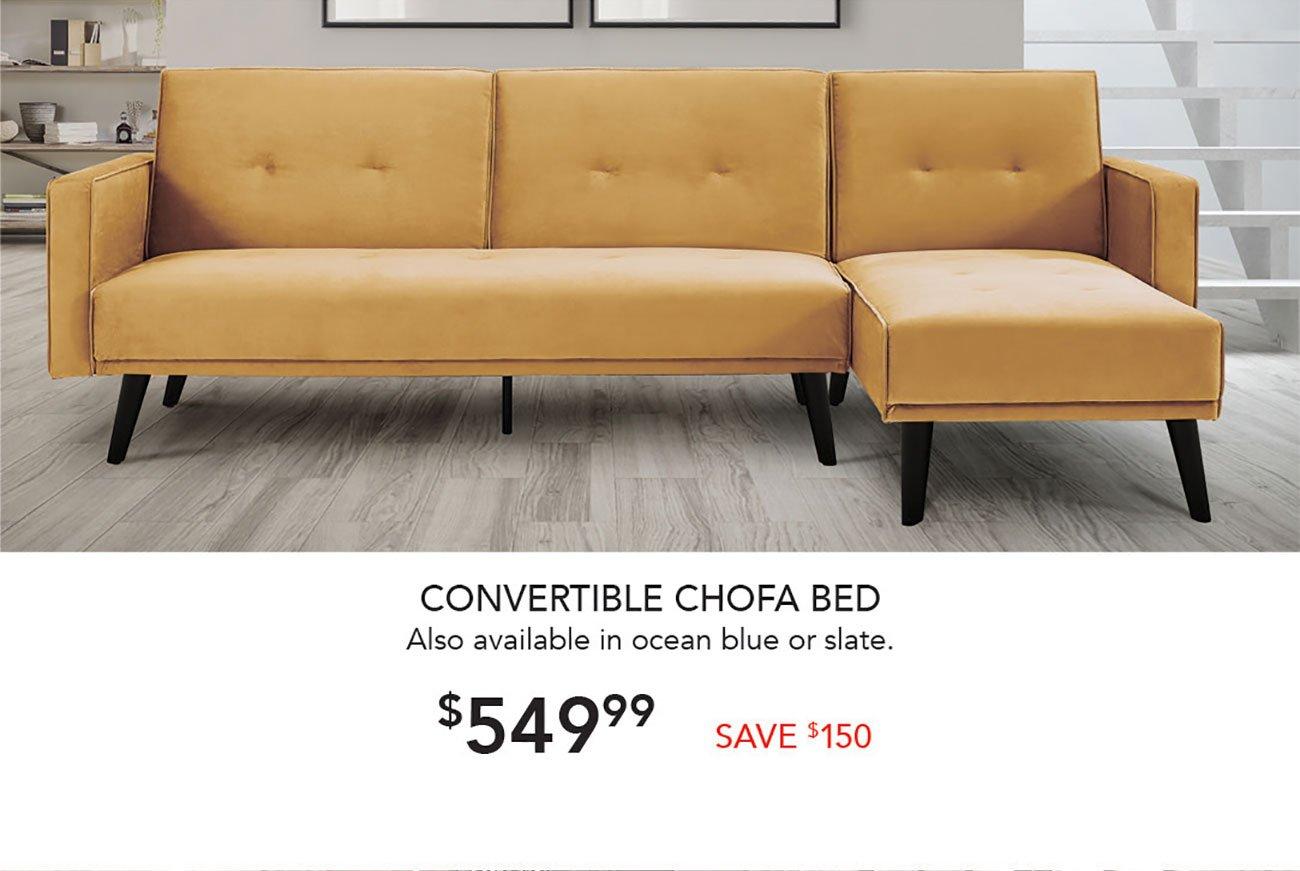 Convertible-Chofa-Bed-Mustard