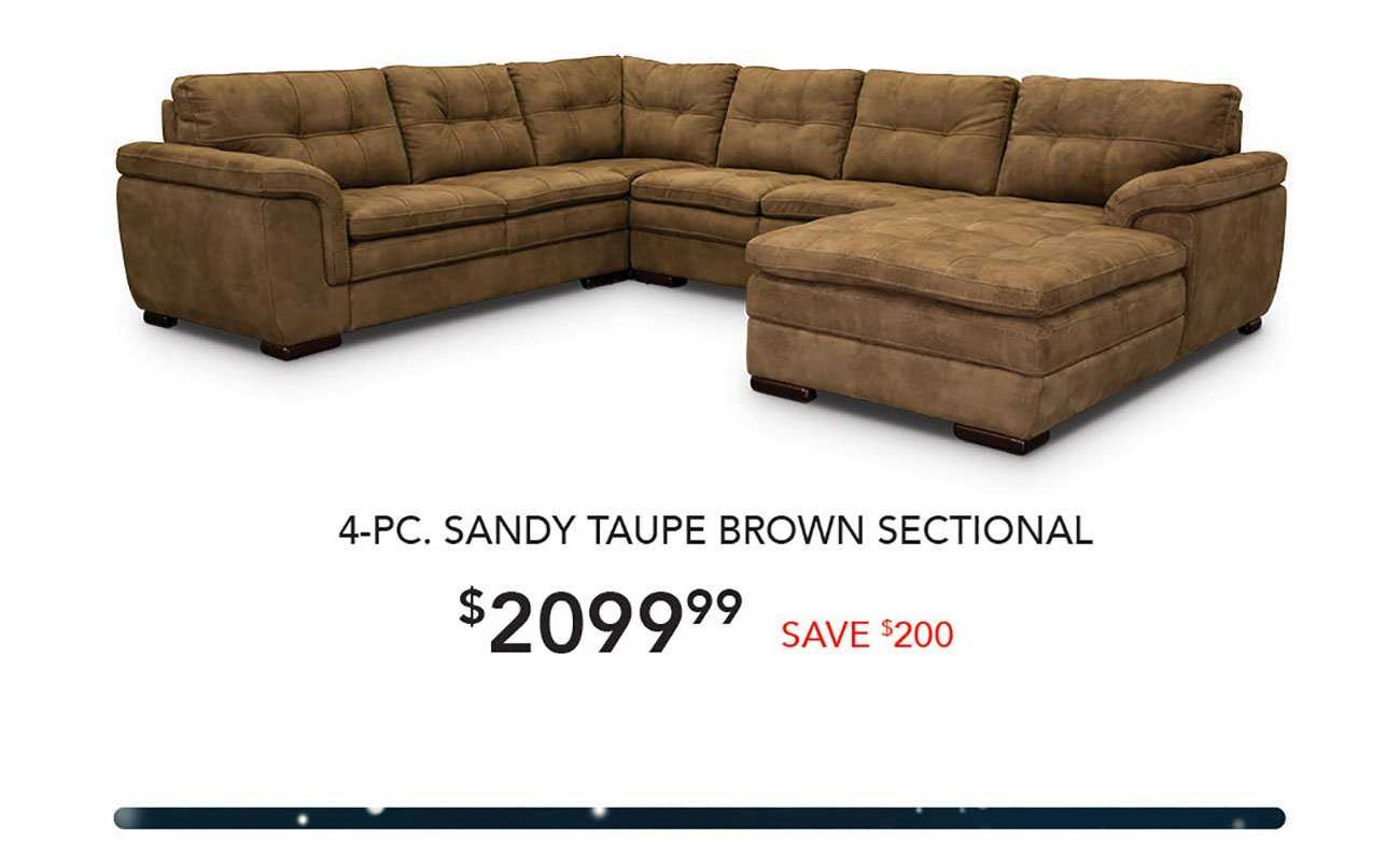 Sandy-Taupe-Brown-Sectional