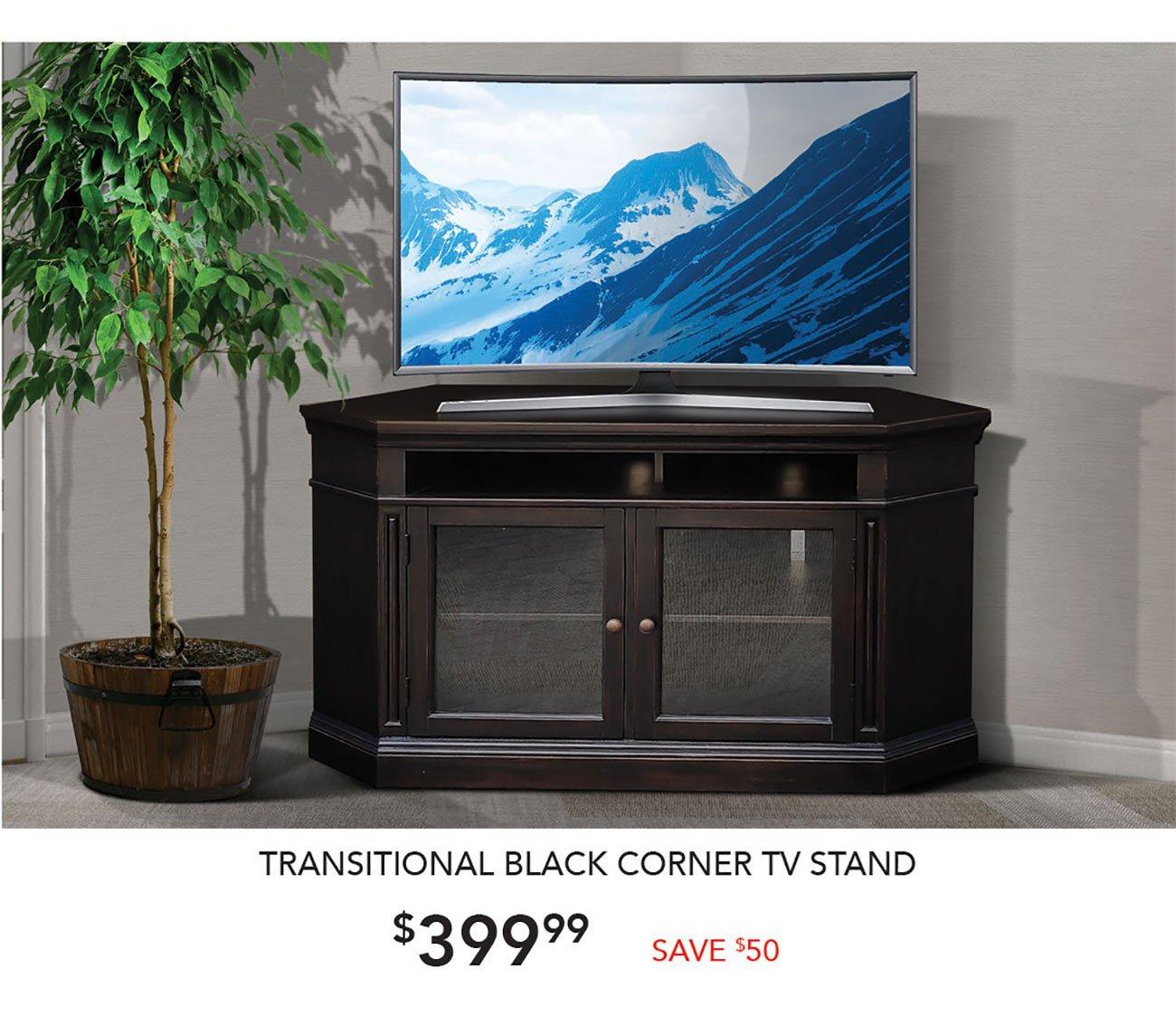 Traditional-Black-Corner-TV-Stand
