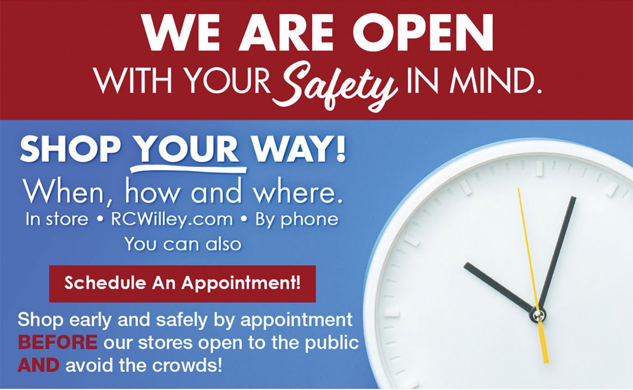 We-Are-Open-Safely-Red-Clock-Stripe
