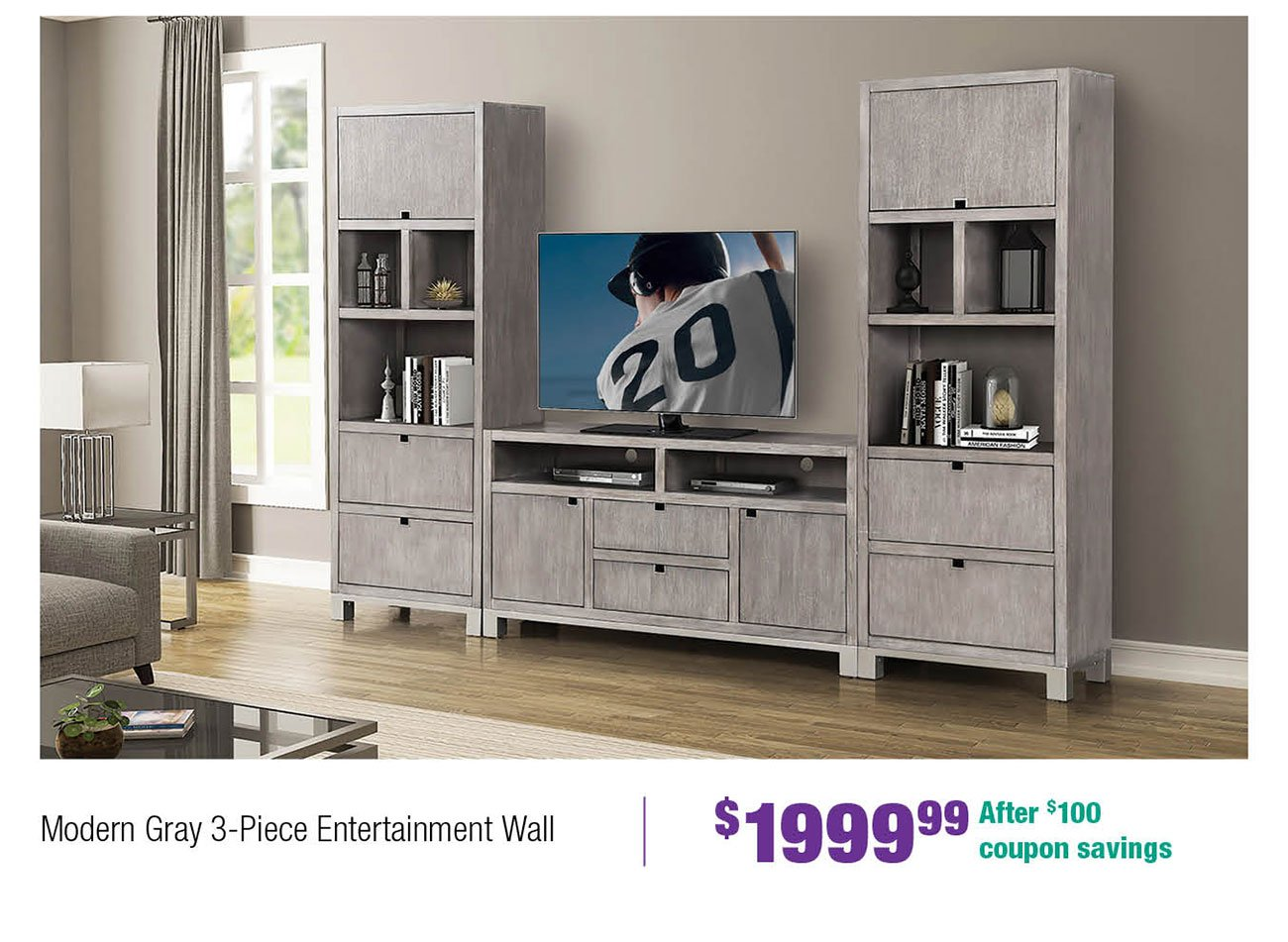 Gray-entertainment-wall
