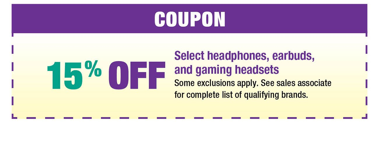 Headphones-coupon