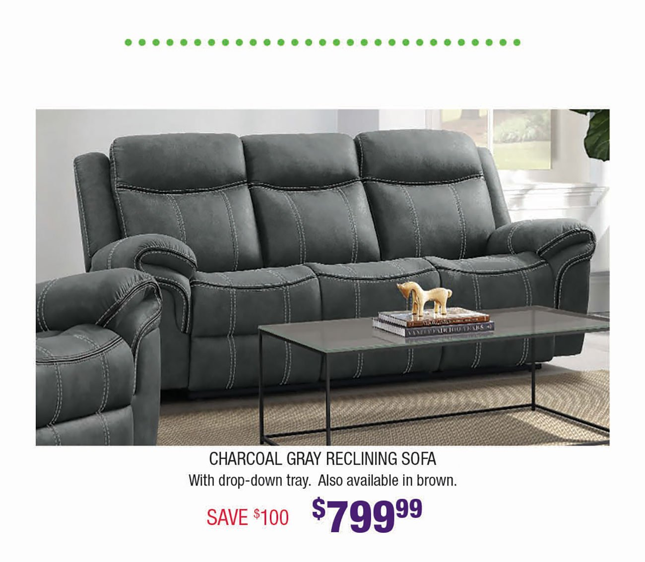 Charcoal-Gray-Reclining-Sofa