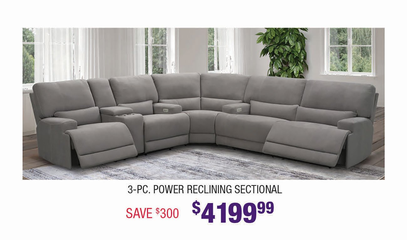 Silver-Power-Reclining-Sectional