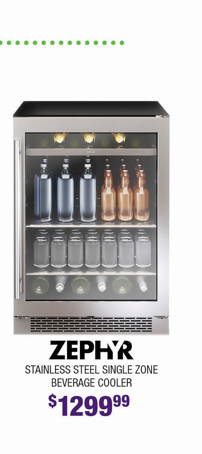 Zephyr-Single-Zone-Beverage-Cooler
