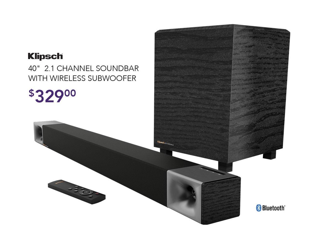 Klipsch-soundbar-with-subwoofer