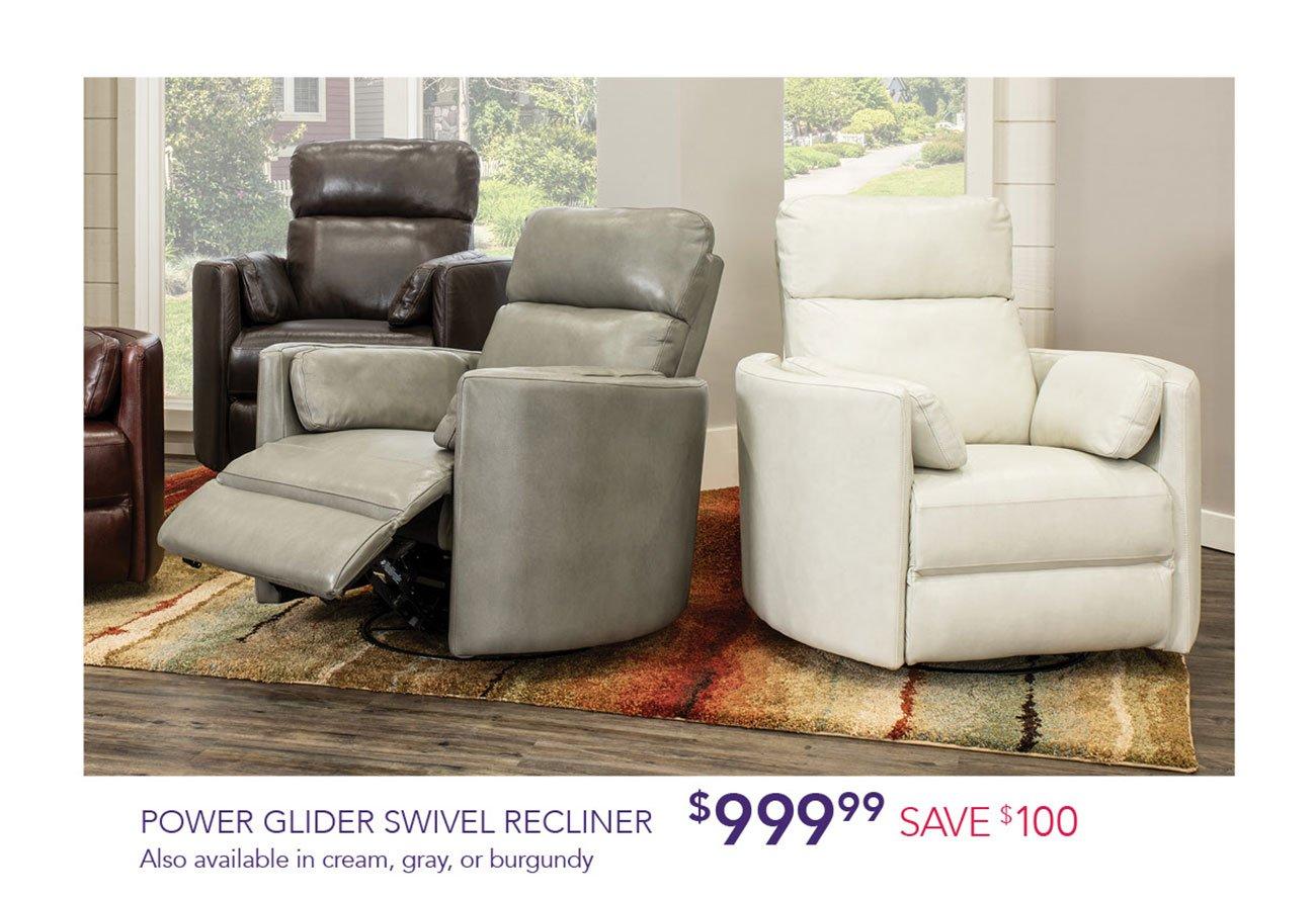 Power-glider-swivel-recliner