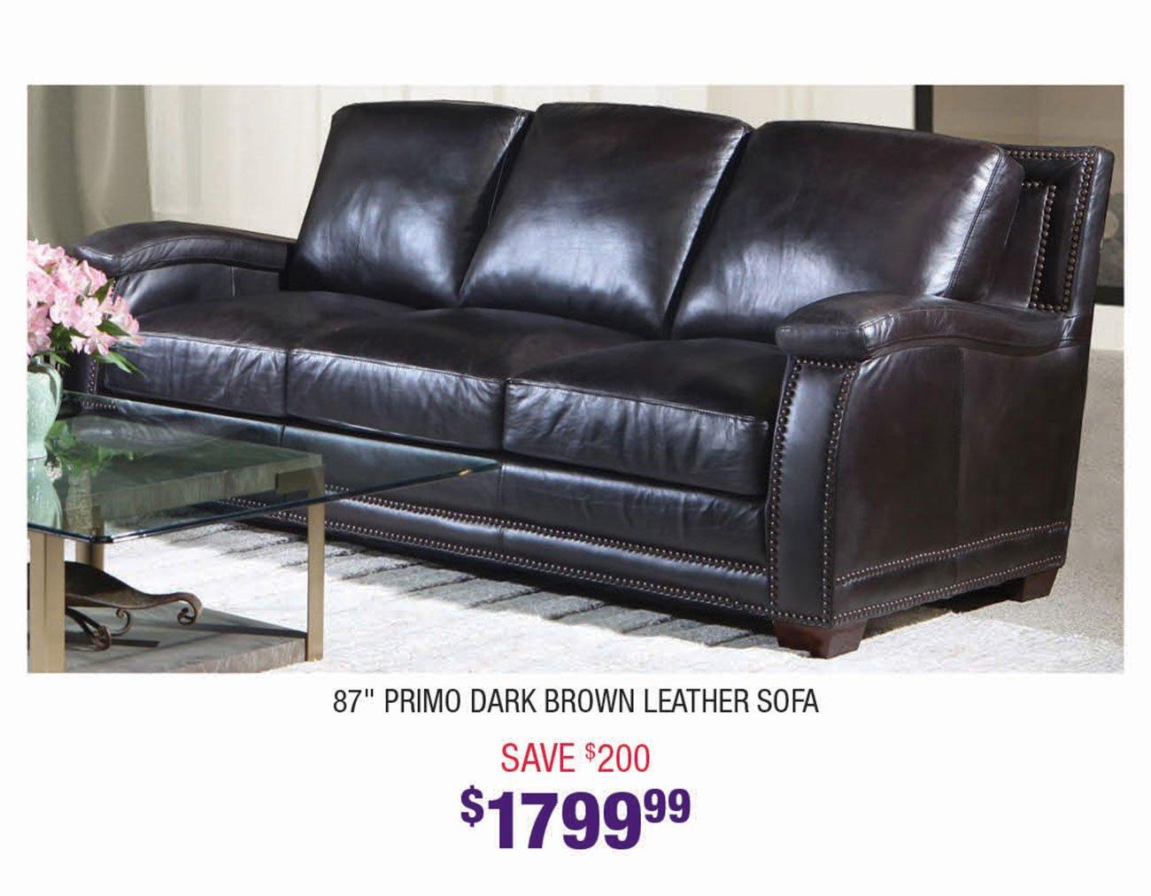 Primo-Dark-Brown-Leather-Sofa
