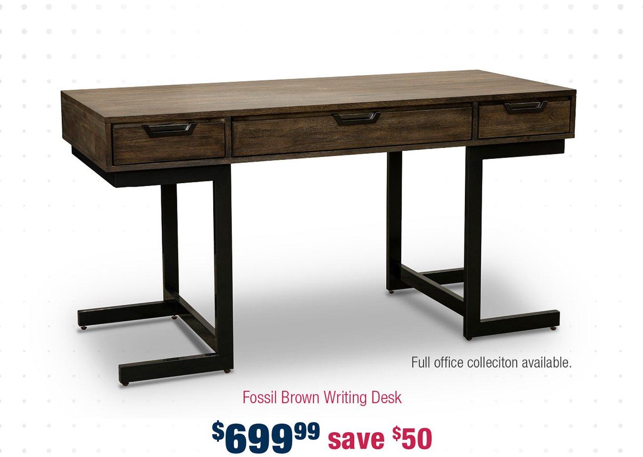 Brown-writing-desk