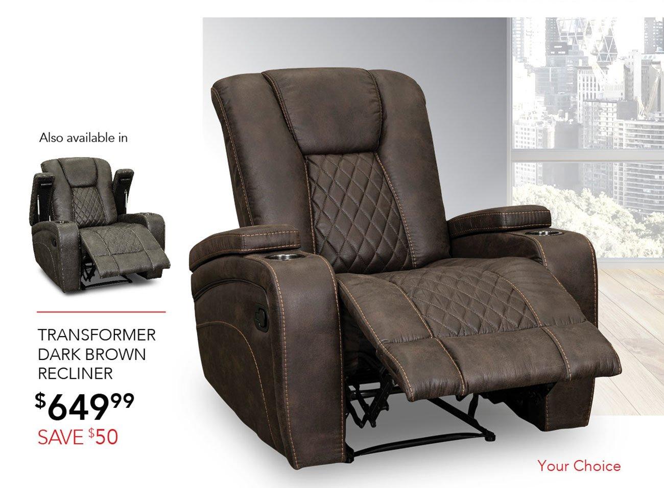 Transformer-dark-brown-recliner