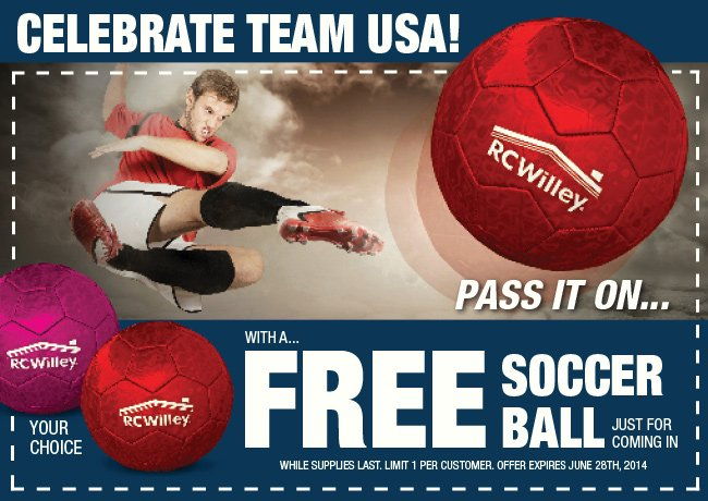 FREE Soccer Ball Just for Coming In!