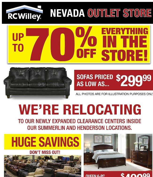 The Nevada Outlet Store is moving