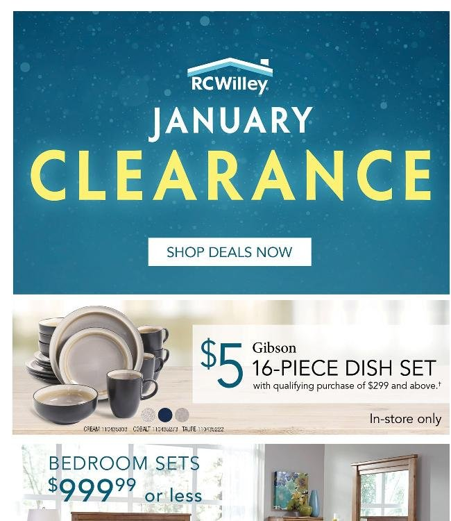 January Clearance Starts Now!
