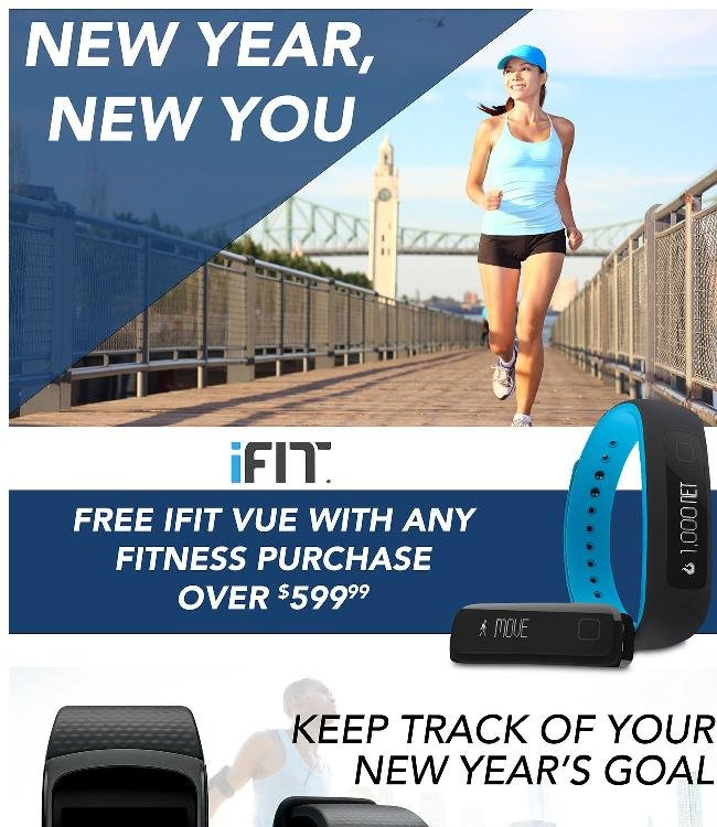 Get a Free ifit Vue with any fitness purchase over $599.99