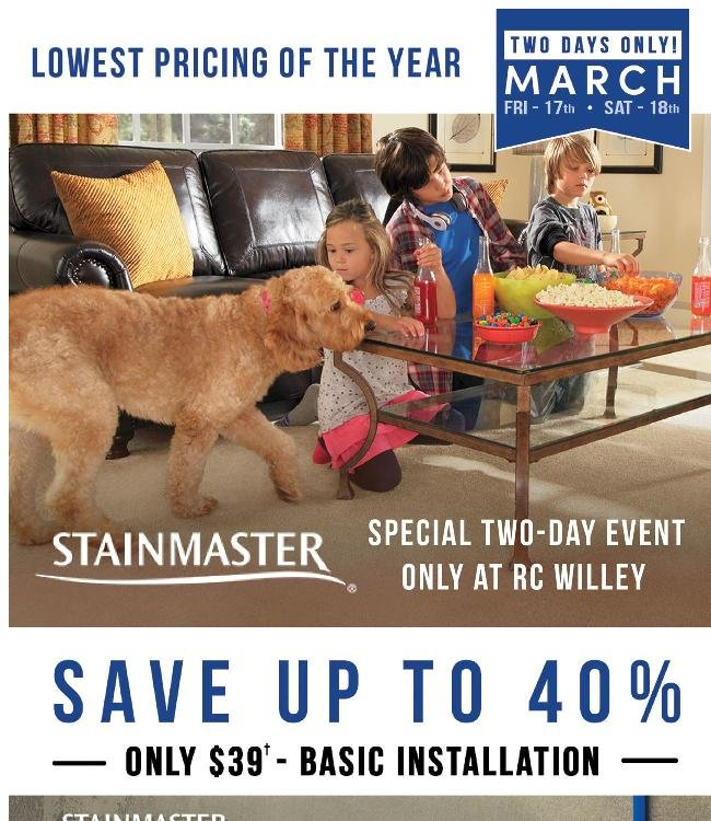 Stainmaster and Coupon Savings Continue