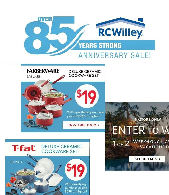 The 85th Anniversary Sale Continues...