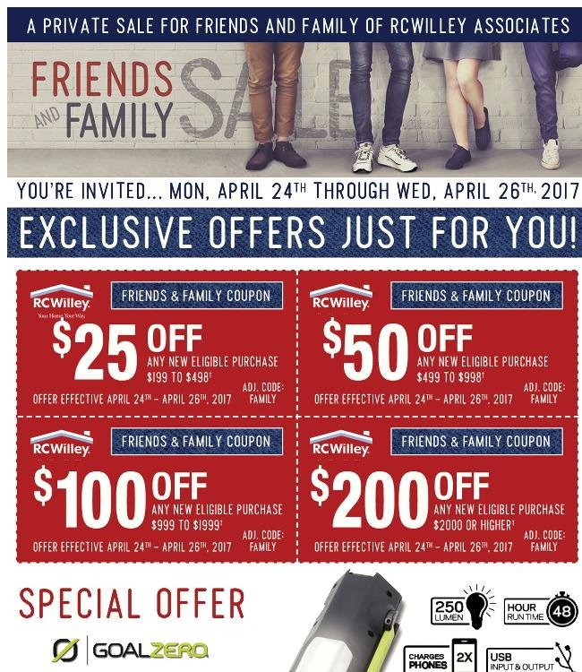 Your Exclusive Invitation To Our Friends & Family Sale