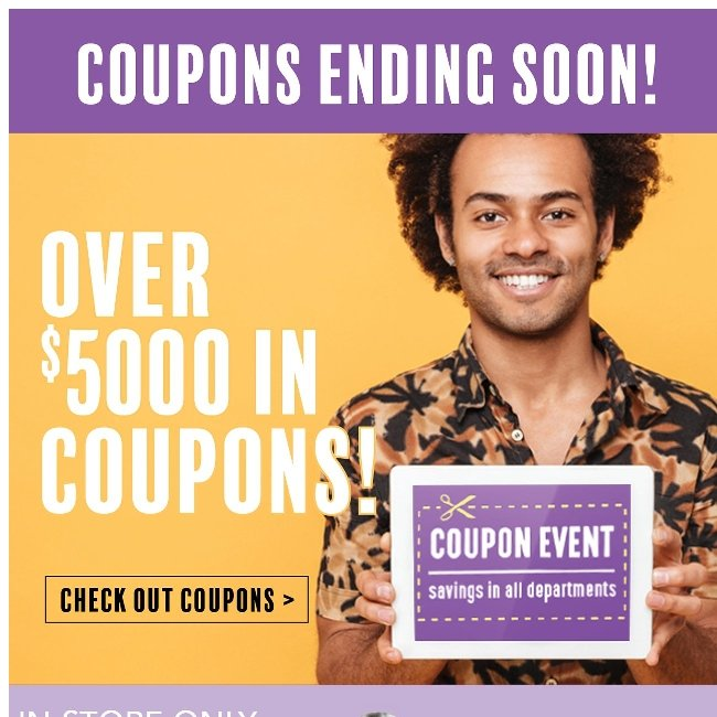 Time is Running Out. April 23rd is the Last Day for Coupons!