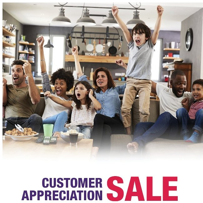 Thanks for Being a Great Customer! Click for Savings!