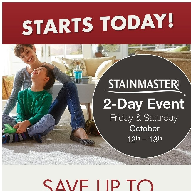 Save Today at our Stainmaster Event!