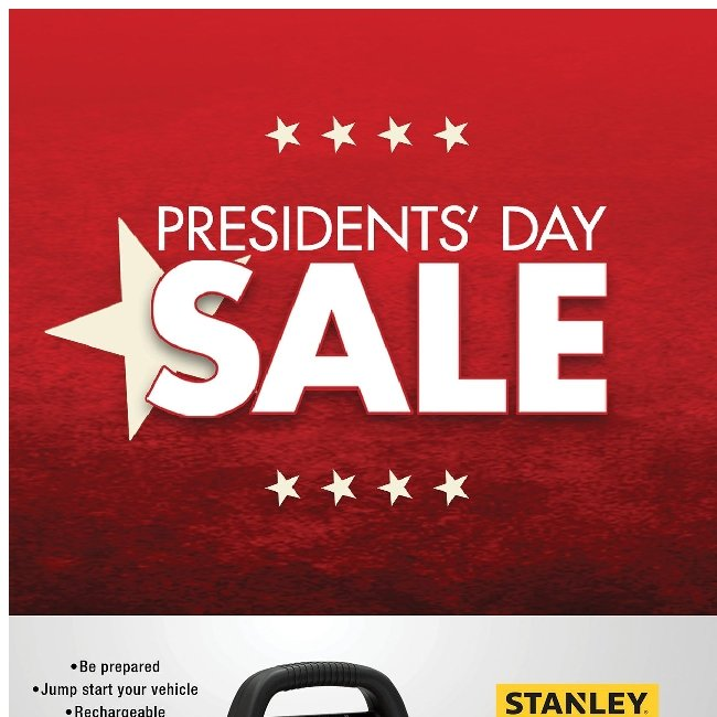 Hi ${firstName}, Presidents' Day Sale is Finally Here! 🇺🇸