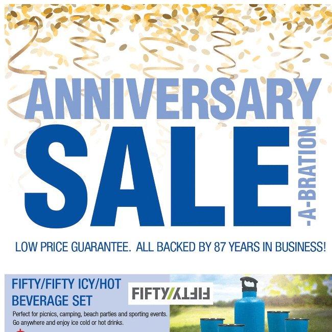 Savings, Savings, Savings! Happy Anniversary Sale!