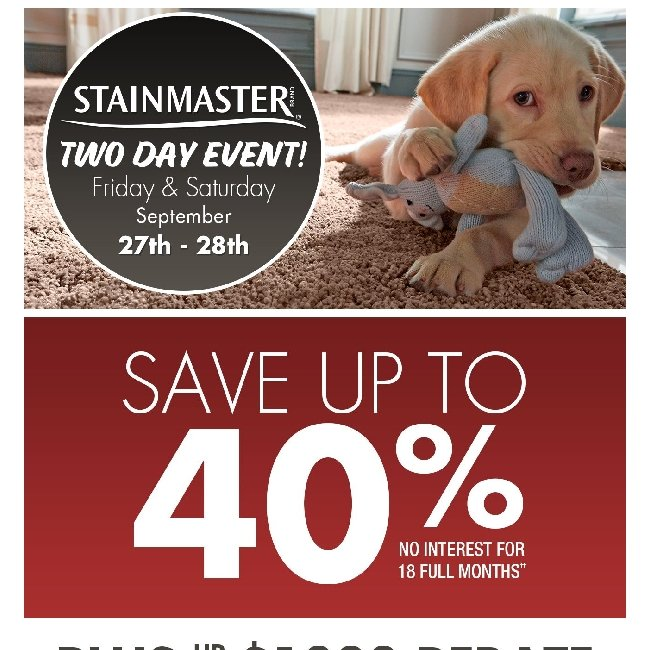 Hi ${firstName}, Get a Free Pre-Measure and Save up to 40% at Our 2-Day Stainmaster Event
